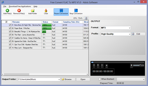 convertire file FLAC in Mp3