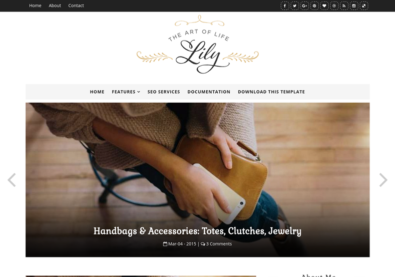 Lily-Fashion-Blogger-Template