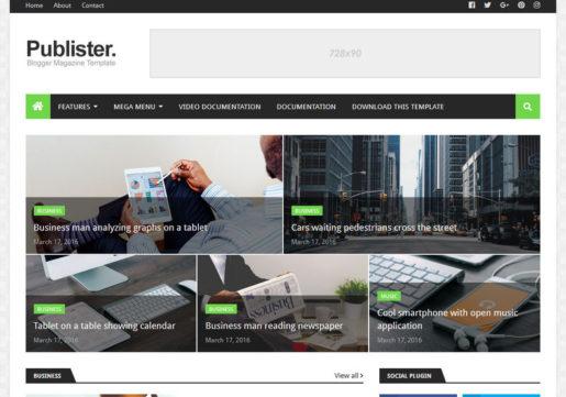 Publister-Blogger-Template
