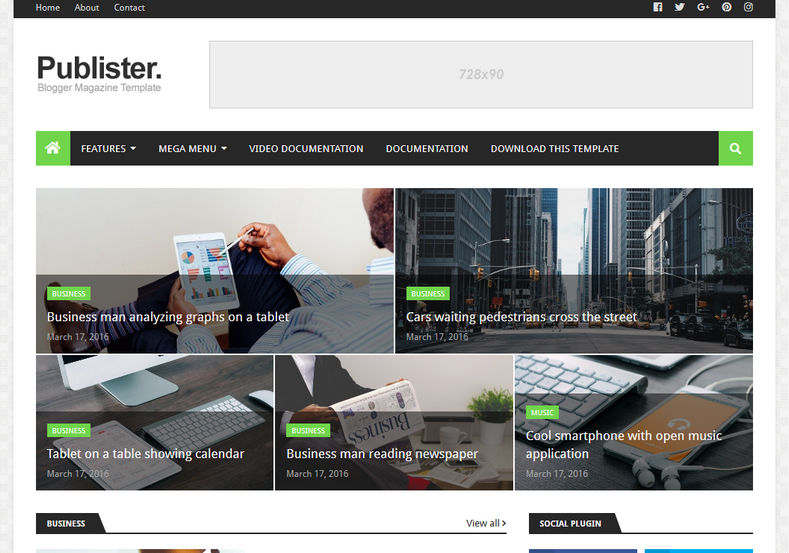 Publister-Blogger-Template
