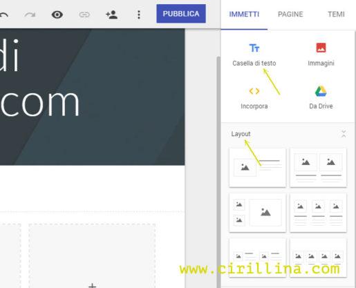 creare-pagina-web-google-layout