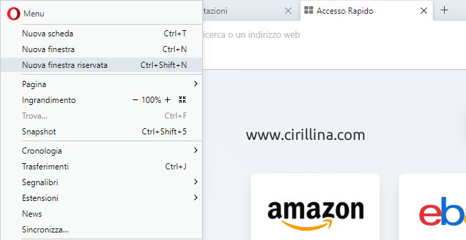 Accedere ai siti oscurati con Opera Browser