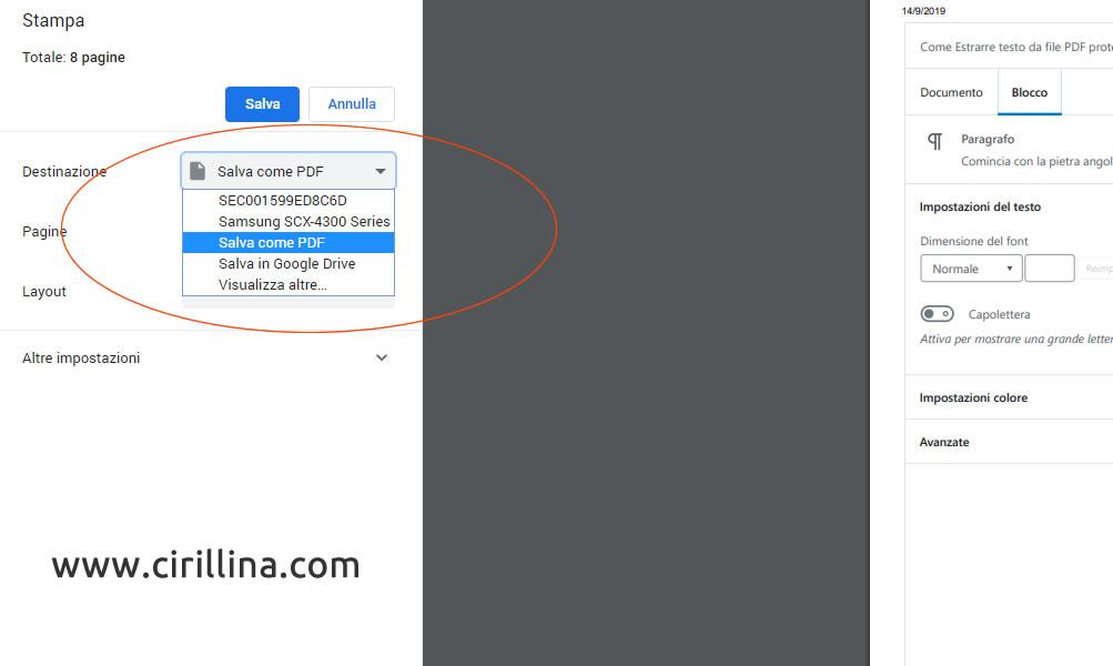 Convertire qualsiasi file in PDF