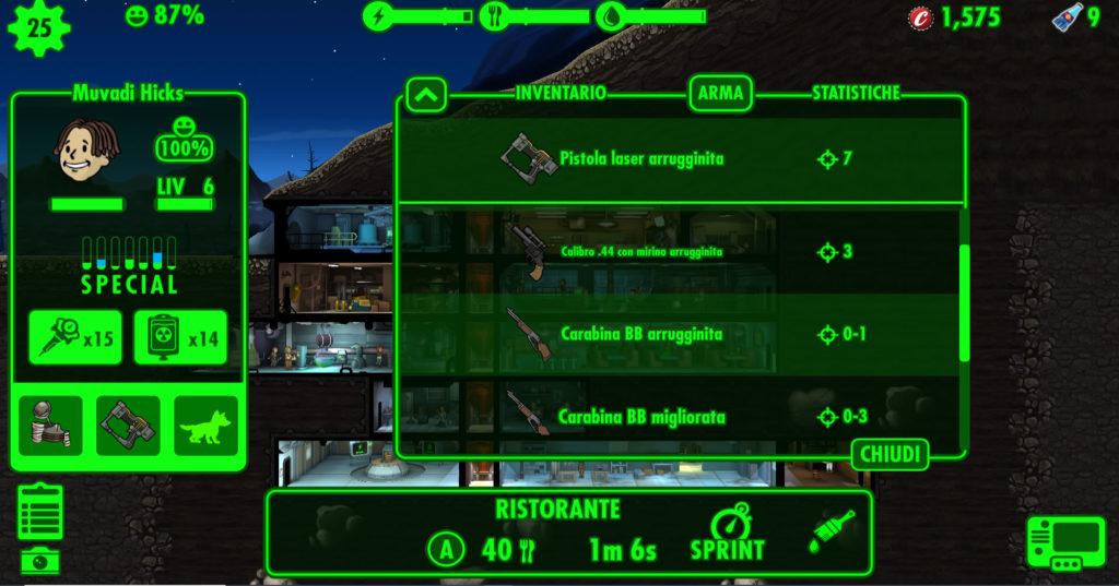 Fallout Shelter trucchi e consigli